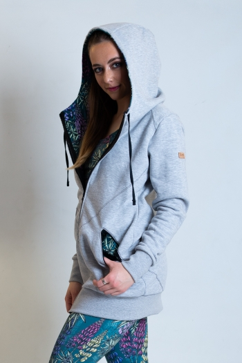 Campera Gris Chochos